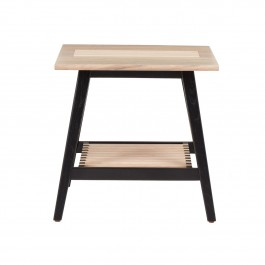 Conran Groove Limed Oak & Black Side Table