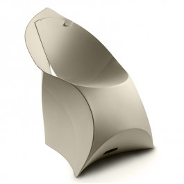 Designer Folding Chair - Flux in Pebble Grey