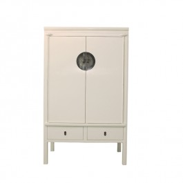 Chinese White Lacquer Wardrobe