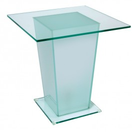 Glass Table with Lamp Base