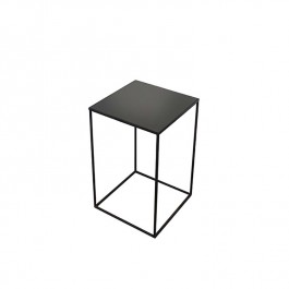 Notre Monde Charcoal Square Side Table