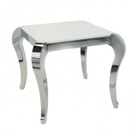 Glass & Steel Side Table - Moulin