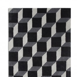 Woollen Rug - Geometric Blocks