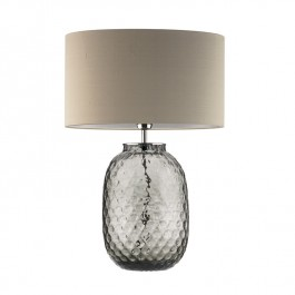 Heathfield Smoke Glass Table Lamp - Bubble