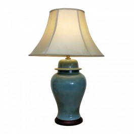 Oriental Jar Table Lamps - Sea Green