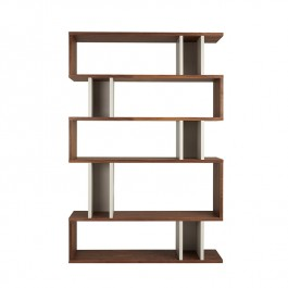 Conran Counter Balance Tall Bookcase Walnut and Pebble