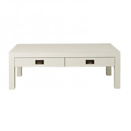 White Chinese Lacquer Coffee Table