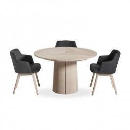 Skovby 33 Extending Round Dining Table