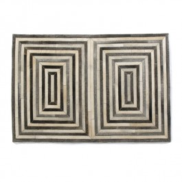 Leather Hide Rug - Dark Grey