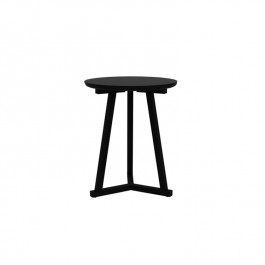 Ethnicraft Oak Tripod Small Side Table - Blackstone