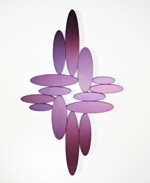Deknudt Contemporary Mirror Ovales Purple
