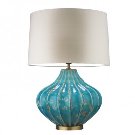 Heathfield Blue Ceramic Table Lamp - Mallory