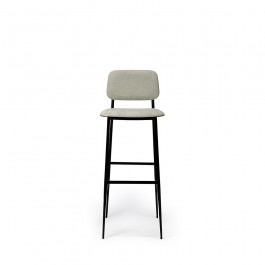 Ethnicraft DC Bar Stool With Backrest Light Grey
