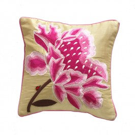 Embroidered Cushion - Chrysanth