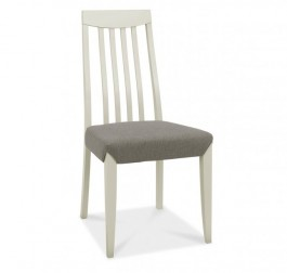 Bergen Pair of Grey Washed Slat Back Dining Chairs