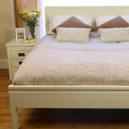 White Chinese Lacquer Double Bed