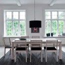 Skovby White Oiled Oak Dining Chair #91 (lifestyle, shown here with 'Skovby Oak Extending Dining Table #23'_