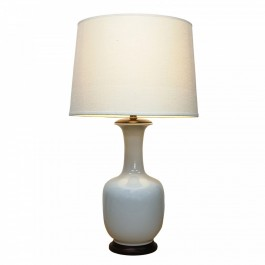 Pair of Oriental Table Lamps - Ivory Tea Bottle
