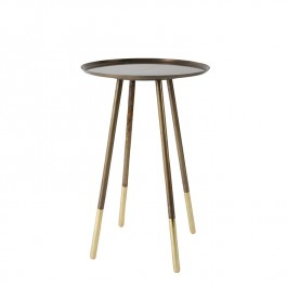Dutchbone Eliot Brass Antique Side Table