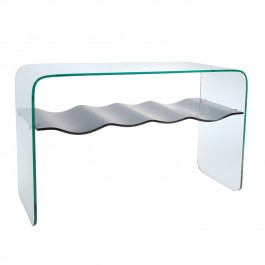 Glass Console Table - Ripple