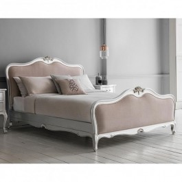 Frank Hudson Chic Silver Linen Bed