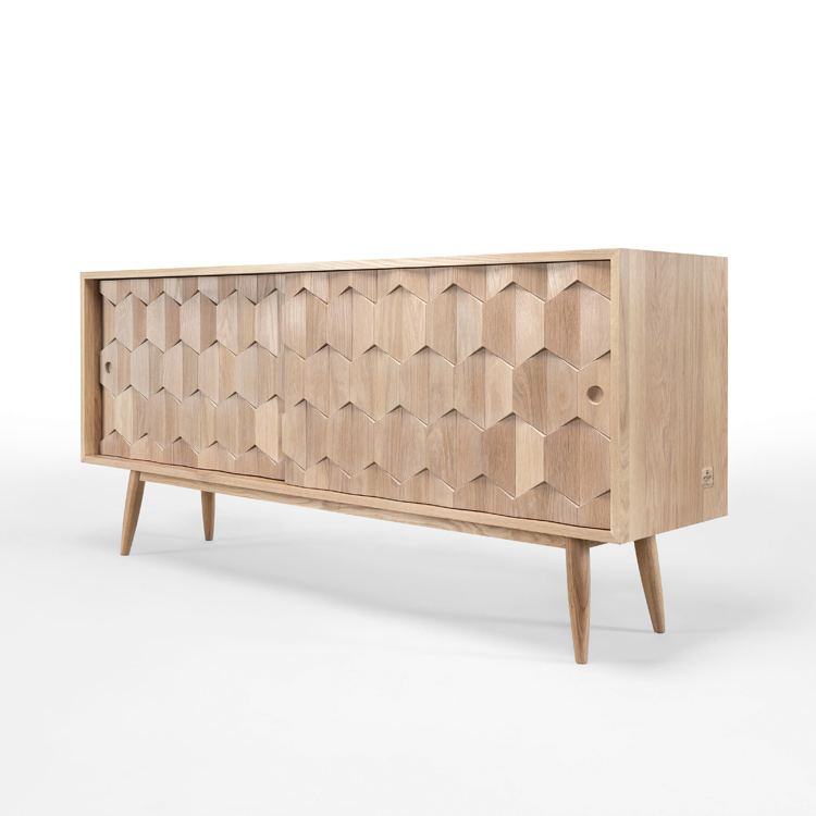 Wewood Solid Wood Sideboards Solid Oak Scarpa Sideboard 4 Living