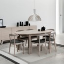 Skovby White Oiled Oak Extending Dining Table #78 (lifestyle, shown here with 'Skovby Oak Dining Chair #52')