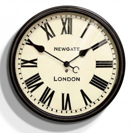 Newgate Large Black Retro Wall Clock Battersby