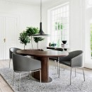 Skovby Walnut Extending Dining Table #73 (lifestyle)