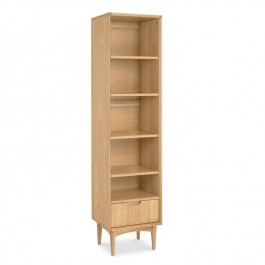 Narrow Oak Bookcase - Oslo