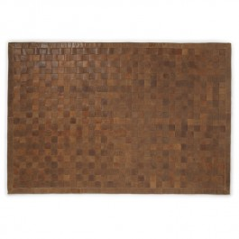 Woven Leather Rug - Vintage Russet