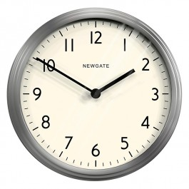 Newgate Wall Clock Spy Burnished Steel