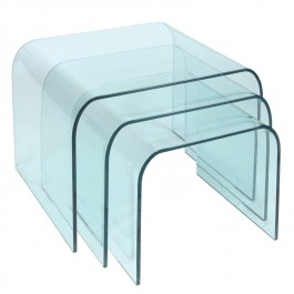 Glass Nest of Tables - Arc