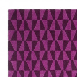 Woollen Rug - Geometric Purple