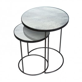 Notre Monde Clear Nesting Side Tables