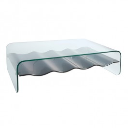 Glass Coffee Table - Ripple
