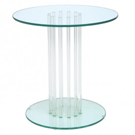 Round Glass Side Table - Stems