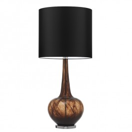 Heathfield Brown Glass Table Lamp - Grace