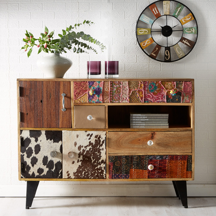 Sorio multi drawer sideboard indian hub for Sideboard indien
