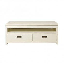 Chinese White Lacquer TV Media Unit