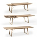 Skovby White Oiled Oak Extending Dining Table #38 (extension step-by-step)