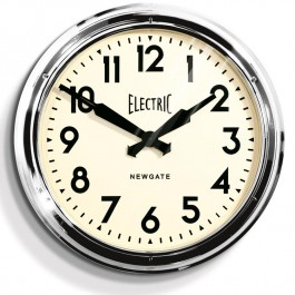 Newgate Giant Chrome Station Clock Electric