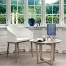 Skovby White Leather Dining Chair #69 (lifestyle)
