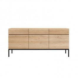 Ethnicraft Oak Sideboard Ligna 3 Door Black