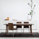 Skovby Walnut Extending Dining Table #38 (lifestyle - shown here with 'Walnut Dining Chair - Skovby 98')