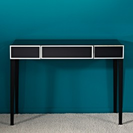 Black Glass Console Table - Couture