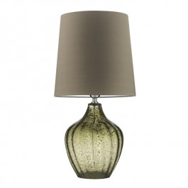Heathfield Green Glass Table Lamp - Vivienne