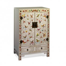 Cream Chinese Butterfly Cabinet - Shanxi