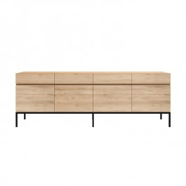Ethnicraft Oak Sideboard Ligna 4 Door Black