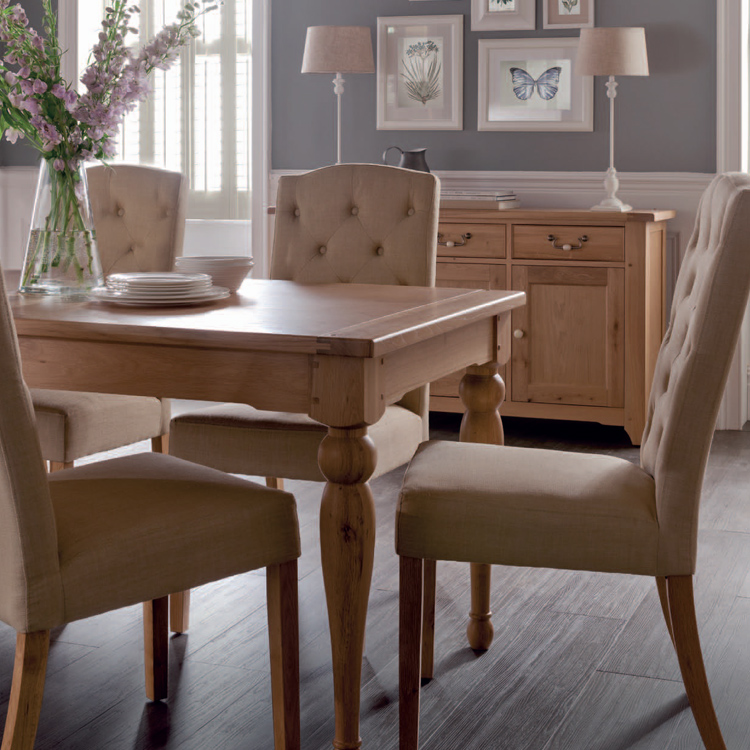 Home Oak Dining Tables Large Extending Table Gloucester Image 1
